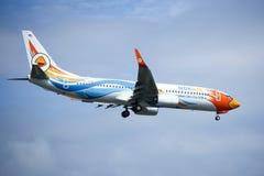 HS-DBW Boeing 737-800 di NokAir Immagini Stock