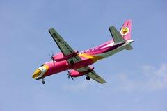 HS-GBD Saab340 Nokmini airline. Saab 340 of Nokmini airline, landing to chiangmai airport Royalty Free Stock Image