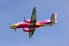 HS-GBD Saab340 Nokmini airline. Saab 340 of Nokmini airline, landing to chiangmai airport Stock Images