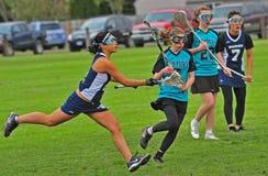 hs-lacrosse för 02 flickor Royaltyfria Bilder