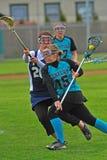 hs-lacrosse för 03 flickor Fotografering för Bildbyråer