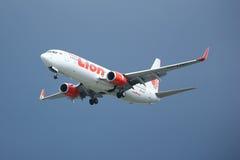 HS-LUH Boeing 737-800 da linha aérea tailandesa do lionair, Imagens de Stock Royalty Free
