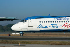 HS-OMB MD-82 de un dos van línea aérea Imagen de archivo