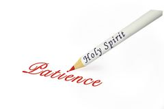 HS patience. Fruit of the Spirit is patience Royalty Free Stock Photo