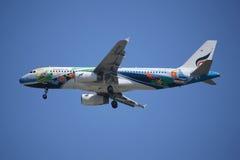HS-PGV空中客车Bangkokairway航空公司A320-200  图库摄影