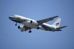 HS-PGV Airbus A320-200 della linea aerea di Bangkokairway Fotografia Stock Libera da Diritti