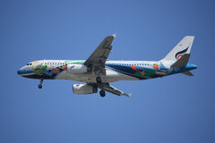 HS-PGV Airbus A320-200 della linea aerea di Bangkokairway Fotografia Stock