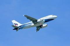 HS-PPA空中客车Bangkokairway A319-100  免版税图库摄影