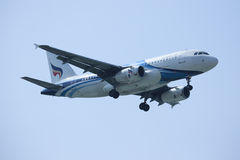 HS-PPM Airbus A319-100 de Bangkokairway Imagens de Stock