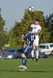 HS Soccer action Royalty Free Stock Photo