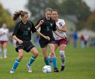 HS Soccer ball control Royalty Free Stock Photo