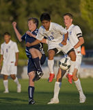 HS Soccer game action Royalty Free Stock Photography