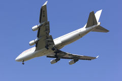 HS-STB Boeing 747-400 Ukierunkowywałam tajlandzkiej linii lotniczej Tania linia lotnicza zdjęcia stock