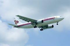 HS-TAH Airbus A300-600 de Thaiairway Foto de Stock