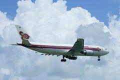 Hs-TAH Luchtbus A300-600 van Thaiairway Royalty-vrije Stock Afbeelding