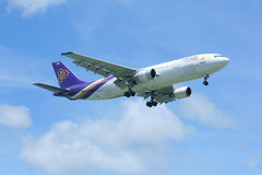 HS-TAK Airbus A300-600R de Thaiairway Fotos de Stock Royalty Free