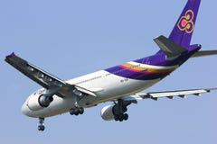 HS-TAS Airbus A300-600R de Thaiairway Foto de Stock Royalty Free