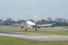 HS-TAW Airbus A300-600R de Thaiairway Imagem de Stock Royalty Free