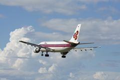 HS-TAW Airbus A300-600R de Thaiairway Fotografia de Stock Royalty Free