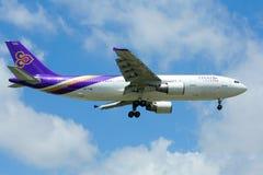 HS-TAW Airbus A300-600R de Thaiairway Foto de Stock Royalty Free