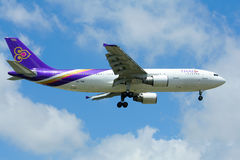 HS-TAW Airbus A300-600R of Thaiairway. Royalty Free Stock Photo