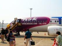 HS-TDB, Nokair 737-400. HS-TDB, Boeing 737-400, Nokair , boarding at chiang mai airport to Bangkok  suvarnabhumi   airport Royalty Free Stock Photography