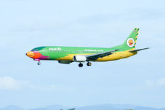 HS-TDE Boeing 737-400 of NokAir airline Stock Images