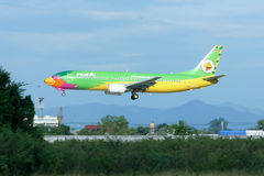 HS-TDE Boeing 737-400 of NokAir airline Royalty Free Stock Image