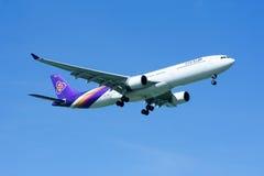 HS-TEG Airbus A330-300 de Thaiairway Imagem de Stock