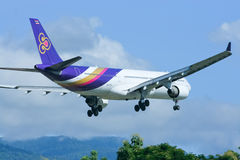 HS-TEG Airbus A330-300 of Thaiairway Royalty Free Stock Photos