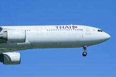 HS-TEG Airbus A330-300 of Thaiairway Royalty Free Stock Images