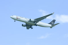 HS-TEL Airbus A330-300 of Thaiairway ( Star alliance paint ). Stock Photo