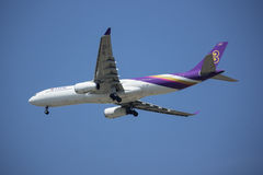 HS-TER Airbus A330-300 of Thaiairway. Stock Photography