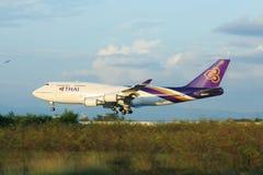 HS-TGA Boeing 747-400 of Thaiairway. Stock Images