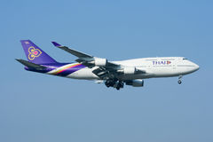 HS-TGB Boeing 747-400 Royalty Free Stock Images