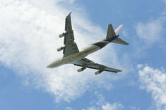 HS-TGH Боинга 747-400 Thaiairway Стоковое Изображение