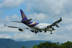 HS-TGH of Boeing 747-400 Thaiairway. Photo from chiangmai airport Stock Photography