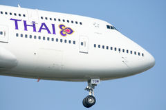 HS-TGM Boeing 747-400 de Thaiairway. Photo stock