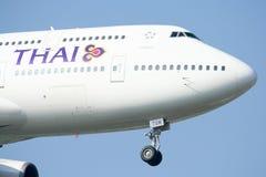HS-TGM Boeing 747-400 de Thaiairway. Photographie stock