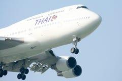 HS-TGM Boeing 747-400 de Thaiairway. Image libre de droits