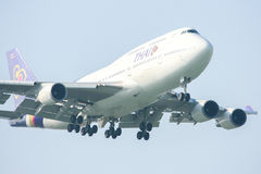 HS-TGM Boeing 747-400 de Thaiairway. Photo libre de droits