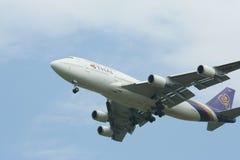 HS-TGO Boeing 747-400 de Thaiairway Image stock