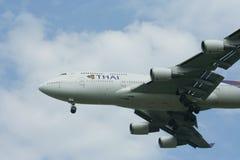 HS-TGO Boeing 747-400 de Thaiairway Image libre de droits