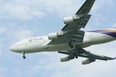 HS-TGO Boeing 747-400 de Thaiairway Photographie stock