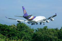 HS-TGO Boeing 747-400 de Thaiairway Images stock