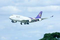 HS-TGP Boeing 747-400 de Thaiairway Image stock