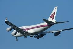 HS-TGX Boeing 747-400 de Thaiairway Image libre de droits