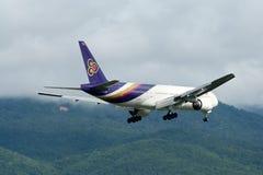 HS-TJD of Boeing 777-200 Thaiairway Royalty Free Stock Images