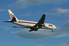 HS-TJH of Boeing 777-200 Thaiairway. HS-TJH of Boeing 777-200, Photo from chiangmai airport Stock Photo