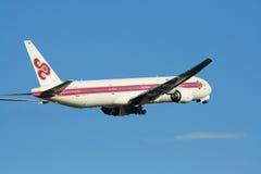 HS-TKB of Boeing 777-300 Thaiairway. Photo from chiangmai airport Stock Photos
